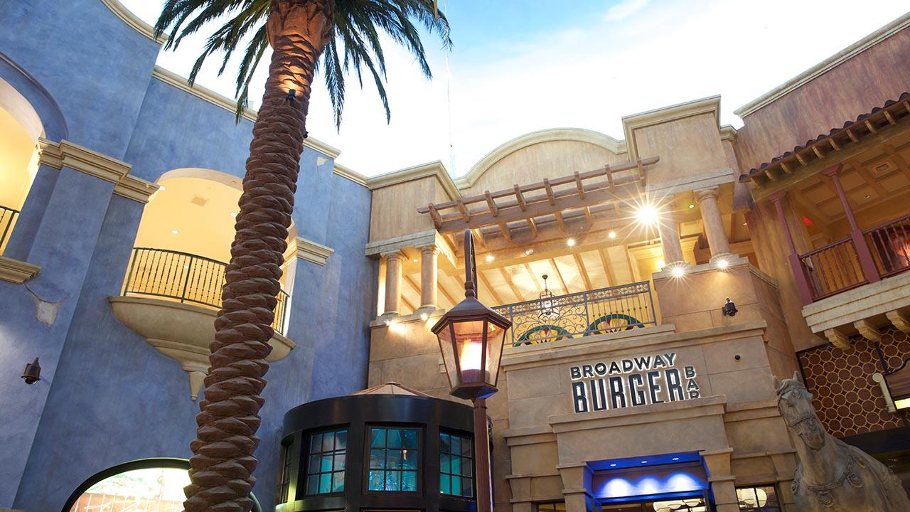 exterior shot of broadway burger bar